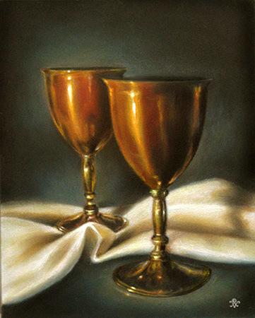 Golden Chalices ~ 9 x 12