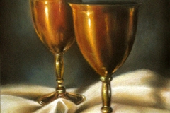 Golden Chalices ~ 9 x 12
