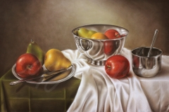 Fruits and Silver ~ 24 x 32 SOLD